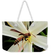 Red Paper Wasp And Spider Lily 001 Weekender Tote Bag