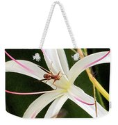 Red Paper Wasps And Spider Lily Weekender Tote Bag