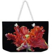 Red Parrot Tulip - Oils Weekender Tote Bag