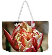 Red Peony Tulip Weekender Tote Bag