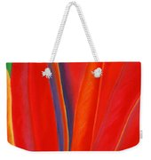 Red Petals Weekender Tote Bag by Lucy Arnold