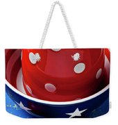 Red Pitcher And Tomato Weekender Tote Bag