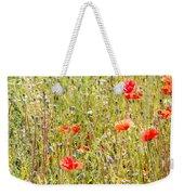 Red Poppies And Wild Flowers Weekender Tote Bag