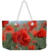 Red Poppies Blooming Weekender Tote Bag
