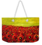 Red Poppies Field  Weekender Tote Bag
