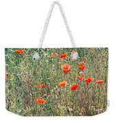 Red Poppies In A Summer Sun Weekender Tote Bag