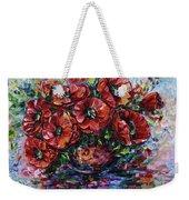 Red Poppies In A Vase Weekender Tote Bag