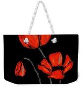 Red Poppies On Black By Sharon Cummings Weekender Tote Bag