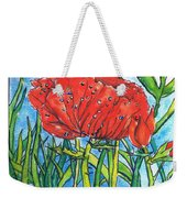 Red Poppy 1 Weekender Tote Bag