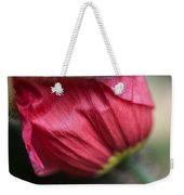 Red Poppy Sneaking Out Weekender Tote Bag