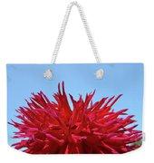 Red Purple Dahlia Flower Art Print Giclee Baslee Troutman Weekender Tote Bag