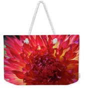 Red Purple Dahlia Flower Summer Dahlia Garden Baslee Troutman Weekender Tote Bag