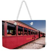 Red Rail Cars Weekender Tote Bag