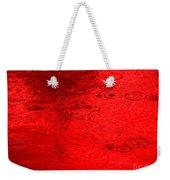 Red Rain Droplets Weekender Tote Bag