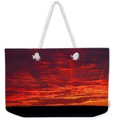 Red Ray Sunset Weekender Tote Bag
