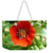 Red Red Bloom Weekender Tote Bag
