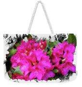 Red Rhododendron Flowers Weekender Tote Bag