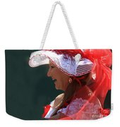 Red Ribbon Bow Weekender Tote Bag