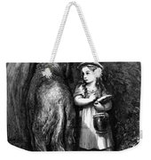 Red Riding Hood Meets Old Father Wolf Weekender Tote Bag