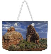 Red Rock Formations On A Desert Plateau In Utah Weekender Tote Bag