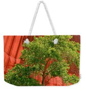 Red Rock Green Tree Weekender Tote Bag