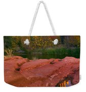 Red Rock Reflection Weekender Tote Bag by Mike  Dawson