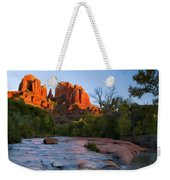 Red Rock Sunset Weekender Tote Bag