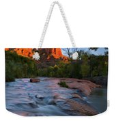 Red Rock Sunset Weekender Tote Bag by Mike  Dawson