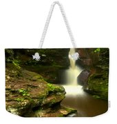 Red Rocks And Lush Green Forest Weekender Tote Bag