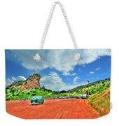 Red Rocks Hippie Van Weekender Tote Bag