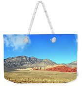 Red Rocks Nevada Panorama Weekender Tote Bag