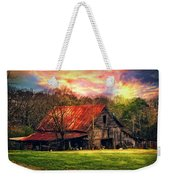 Red Roof At Sunset Weekender Tote Bag