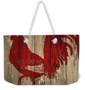Red Rooster Barn Door Weekender Tote Bag
