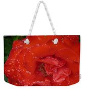 Red Rose After Rain Weekender Tote Bag