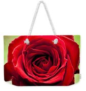 Red Rose Colour Isolated On A Green Background. Weekender Tote Bag