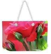 Red Rose Flower Weekender Tote Bag