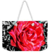 Red Rose Fractal Weekender Tote Bag
