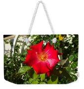 Red Rose In Summer Weekender Tote Bag