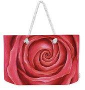 Red Rose Pastel Painting Weekender Tote Bag