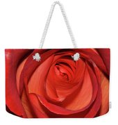 Red Rose Up Close Weekender Tote Bag