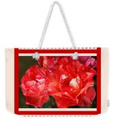 Red Rose With A Whisper Of Yellow And Design Weekender Tote Bag
