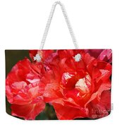 Red Rose With A Whisper Of Yellow  Weekender Tote Bag