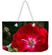 Red Rose With Buds Weekender Tote Bag