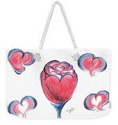 Red Rose- With Love  Weekender Tote Bag