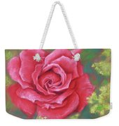 Red Rose With Yellow Lady's Mantle Weekender Tote Bag