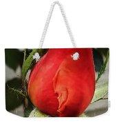 Red Rosebud  Weekender Tote Bag