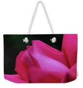 Red Rosebud Raindrops Weekender Tote Bag