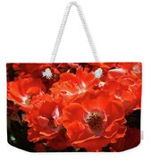 Red Roses Botanical Landscape 1 Red Rose Giclee Prints Baslee Troutman Weekender Tote Bag