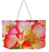 Red Roses White Yellow Rose Flower Floral Art Print Baslee Troutman Weekender Tote Bag