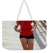 Red Runner Weekender Tote Bag
